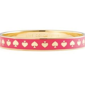 Kate Spade pink spades bangle